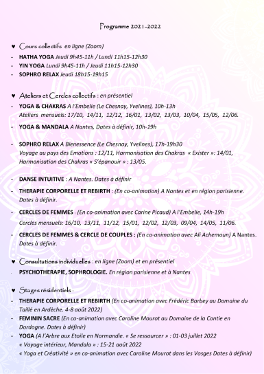 Carine Arena programme 2021-20222